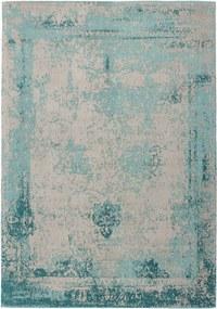 Dejaroom | Vloerkleed Nostalgia lengte 200 cm x breedte 290 cm x hoogte 1 cm turquoise vloerkleden bovenkant: 50% katoen, | NADUVI outlet