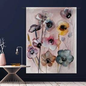 Urban Cotton Flowers In Soft Hues Wandkleed Small