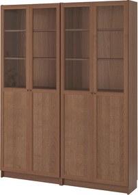 IKEA BILLY / OXBERG Boekenkast 160x30x202 cm Bruin essenfineer Bruin essenfineer - lKEA