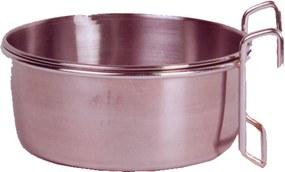 RVS voerbak met houder 12,5 cm - 550 ml