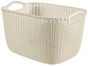 Curver knit mand L - 19 liter - oasis white
