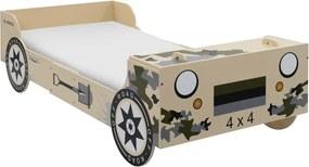 Kinderbed terreinwagen 90x200cm camouflage