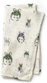 Bamboe Hydrofiele doek - Forest Mouse - Babydeken