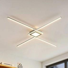 Ridia LED plafondlamp, nikkel - lampen-24