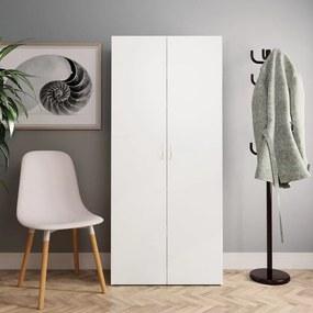 Schoenenkast 80x35,5x180 cm spaanplaat wit en sonoma eikenkleur