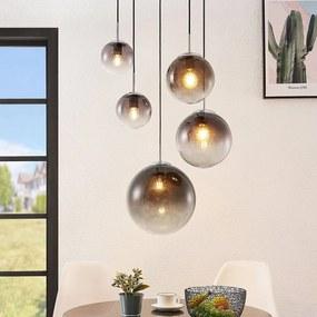 Robyn glazen hanglamp, 5-lamps - lampen-24