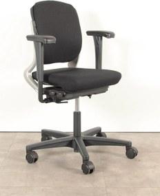 Bureaustoel 230, zwart, (opnieuw gestoffeerd) 4D armleggers