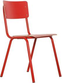 Zuiver Back To School Stapelbare Retro Stoel Rood