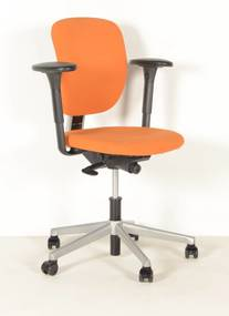 Bureaustoel 262, oranje, 1D armleggers
