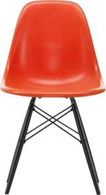 Vitra Eames DSW Fiberglass stoel esdoorn zwart red orange