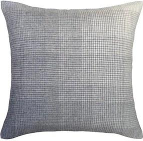 Kussen donkerblauw alpaca wol: Horizon, vierkant Zonder binnenkussen