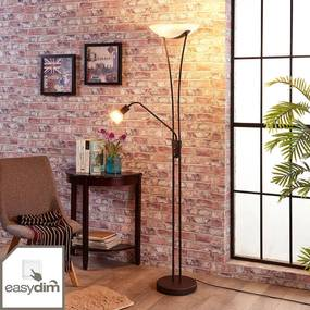 Dimbare LED uplighter Felicia in roest look - lampen-24