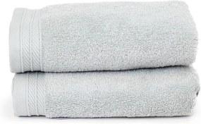 The One Towelling 2-PACK: Handdoek Organic - 50 x 100 cm - Zilvergrijs