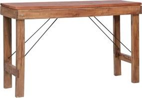 Wandtafel inklapbaar 130x40x80 cm massief gerecycled hout