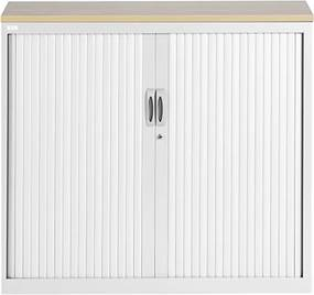 Roldeurkast Proline 105 x 120 cm incl. 1 legbord - Wit