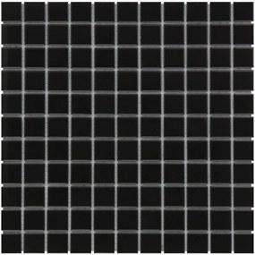 The Mosaic Factory Barcelona mozaïektegel 2.3x2.3x0.6cm wand en vloertegel voor binnen en buiten vierkant porselein zwart mat AM230317