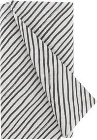 Tafelkleed - 120 X 180 - Papier - Zwart/wit Strepen (zwart/wit)