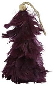 Kersthanger boom met veren - paars