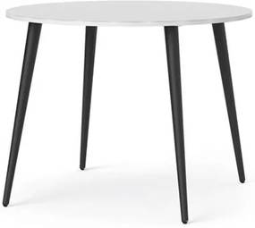 Eetkamertafel Delta - wit/zwart - Ø100x75 cm - Leen Bakker
