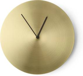 Menu Norm Wall Clock klok Brushed Brass