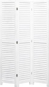 Kamerscherm met 3 panelen 105x165 cm hout wit