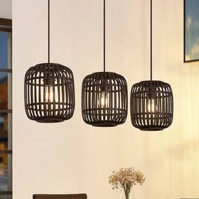Canyana hanglamp, 3-lamps, zwart - lampen-24