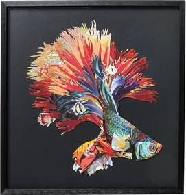 Kare Design Betta Fish Colore Wanddecoratie