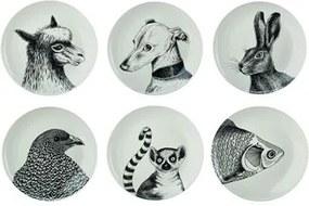Animals Borden Set van 6 Ø 24 cm