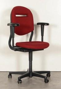 Bureaustoel 220, bordeaux rood, 3D armleggers