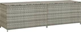 Tuinbox 200x50x60 cm poly rattan grijs