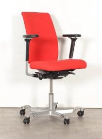 Bureaustoel HAG H05, rood, 4D armleggers