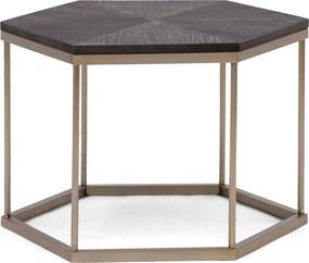 Rivièra Maison - Costa Mesa Hexagon Side Table - Kleur: zwart