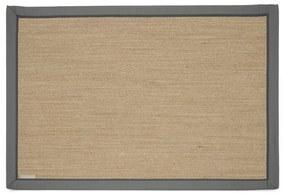 Rivièra Maison - Correllus Rug 240x160, natural/dark grey border - Kleur: naturel