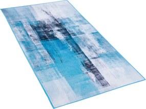 Tapijt blauw TRABZON van 80x150 cm laagpolig