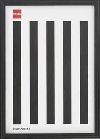 Fotolijst - Hout - Zwart - Relief Smalle Rand 20 X 30
