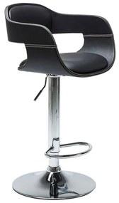 Kare Design Costa Zwart Barkruk Met Rugleuning Zwart