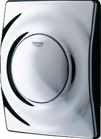 Surf bedieningspaneel closet/urinoir kunststof chroom. glans (lxbxh) 144x116x35mm