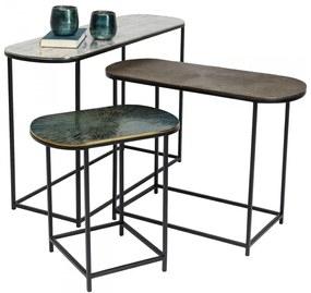 Kare Design Ray Ovale Sidetable-set Metaal - 97 X 30cm.