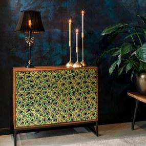 Kleurrijk Dressoir Mangohout - 95x40x80cm.