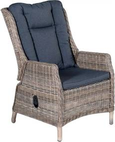 Marbella verstelbare stoel wicker havanna zand met reflex black kussen