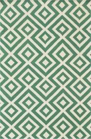 Bakero   Vloerkleed Louisa Laagpolig lengte 120 cm x breedte 180 cm x hoogte 0,40 cm groen vloerkleden wol vloerkleden &   NADUVI outlet