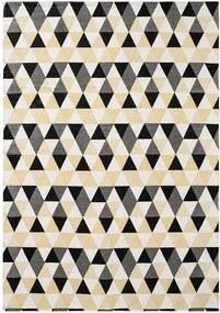 Katoenen vloerkleed 140 x 200 cm Grijs/wit/crème