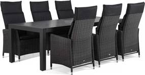 Garden Collections Madera/Edmonton 240 cm dining tuinset 7-delig