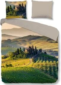 Lits jumeaux dekbedovertrek Tuscan - 2437-P - groen