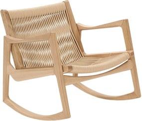 ClassiCon Euvira schommelstoel eiken onderstel koord zitting