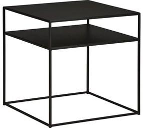 Goossens Hoektafel Saar, metaal zwart, elegant chic, 50 x 50 x 50 cm