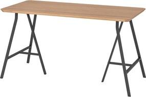 HILVER / LERBERG Tafel 140x65 cm bamboe/grijs