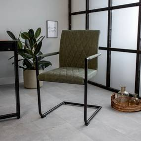 Dimehouse | Eetkamerstoel Bextley breedte 52 cm x diepte 63 cm x hoogte 88 cm groen eetkamerstoelen metaal stoelen & fauteuils | NADUVI outlet
