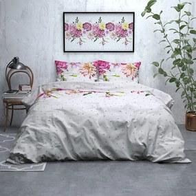 Sleeptime Elegance Dotted Floral - Verwarmend Flanel 1-persoons (140 x 200/220 cm + 1 kussensloop) Dekbedovertrek