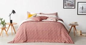 Boxton 100% katoenen stonewashed dekbed, 225 x 220 cm, roze